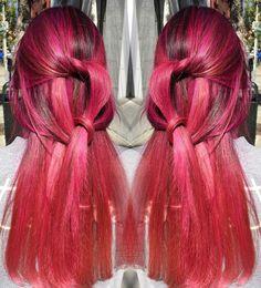 Sakura pink for the spring hair #hairbyChiyuki on @ashleenino #pinkhair #springhair #sakurapink #pastelpink #rosepink #balayage #balayagehighlights #modernsalon #americansalon #behindthechair #hairdresser #lahairstylist by chiyukihair