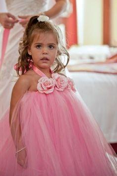 #THB Pretty Pink Princess Girls Halter Tutu Dress by PoshBabyStore.com by alyssa