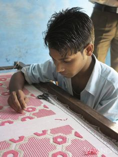 A craftsman at work in India.
