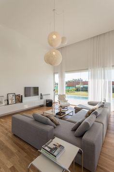 Interior Design For Living Room Home Living Room, Living Room Designs, Living Room Decor, Home Office Design, Home Interior Design, House Design, Interior Minimalista, Design Apartment, Bungalows
