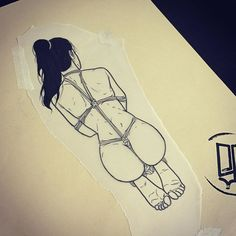 sad_amish_tattooer (SAD AMISH Tattooer) on Instagram Pin Up Tattoos, Sexy Tattoos, Rope Art, Sexy Drawings, Dot Work Tattoo, Tattoo Sketches, Up Girl, Erotic Art, Tattoo Inspiration