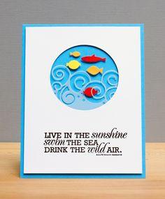 Memory Box dies- Big Splash Border 98438, School of Fish 98567 from Right as Rain blog