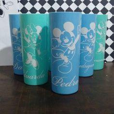 Copos long drink super fofos personalizados pela Aquarela 😍