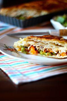 As Minhas Receitas: Tarte de Frango com Ervilhas e Cenouras