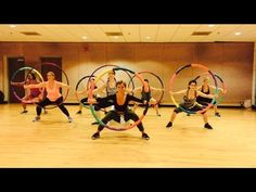 """""""PUMP"""" Valentino Khan - Dance Fitness Workout with Weighted Hula Hoops Valeo Club Ballet Barre Workout, Hula Hoop Workout, Weighted Hula Hoops, Dance Workout Videos, Exercise Videos, Dance Routines, Dance Fitness, Workout For Beginners, Sport"""
