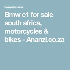 See 3 results for BMW for sale South Africa at the best prices, with the cheapest ad starting from R 27 Looking for more motorbikes? Explore BMW motorcycles for sale as well! Bmw Motorcycles For Sale, Bmw C1, Motorcycle Bike, South Africa
