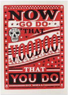 Voodoo screenprint from printmaker James Brown.  #eastlondondesignstore #elds #coolprints #coolpresents www.eastlondondesignstore.com