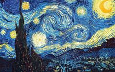 drawings to copy Vincent van Gogh's Masterpiece Starry Night Diamond Painting (round drill) Van Gogh Paintings, Cross Paintings, Van Gogh Drawings, Vincent Van Gogh, Van Gogh Pinturas, Starry Night Art, Starry Night Wallpaper, Stary Night Painting, Art Night