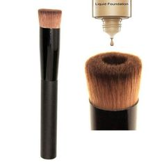 Professional Face Liquid Foundation Concave Application Cosmetic Makeup Brush - The Accessory Nook  - 1