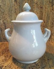 Antique Imperial White Ironstone China Lidded Sugar Bowl by Hope & Carter
