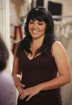 Callie from Greys Anatomy, love her hair, every way she's ever had it on the show.