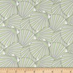 Tidepools Packed Scallop Shells Green from @fabricdotcom  Designed by Jennifer Pugh for Wilmington Prints, this fabric is perfect for quilting, apparel and home decor accents. Colors include sage and white.