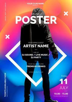 Modelo de cartaz de música abstrata | Free Vector #Freepik #freevector #fundo #fundo-abstrato #poster #musica Music Poster, City Poster, Poster Design Layout, Event Poster Design, Event Posters, Event Poster Template, Poster Templates, Technology Posters, Vector Technology