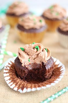 guinness chocolate truffle cupcakes with bailey's frosting 23