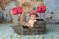 LIMITED EDITION Pirate Ship Prop, Boat Prop, Nautical, Photography Prop, Newborn Photo Prop