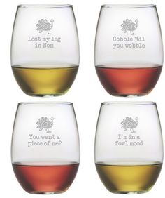OK, these are hilarious.  Clever turkey wine glasses.