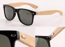 Gafas de Sol de Los Hombres gafas de sol de Madera de bambú Gafas de Sol…