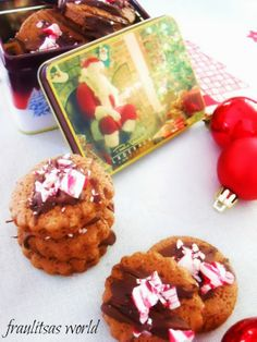 Σοκολατένια μπισκότα με κομμάτια καραμέλας