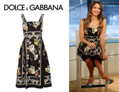 Jessica Alba's Dolce & Gabbana Printed Sleeveless Dress