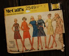 McCall 2549 1970s 70s Mod Day Dress Vintage by EleanorMeriwether