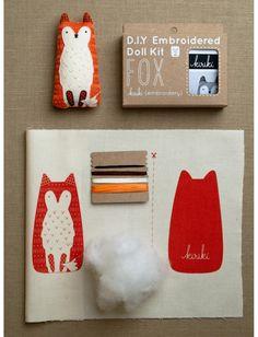 Маленькие наборы животных вышивки