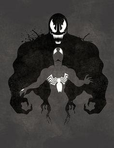 Spider-man and Venom  https://www.facebook.com/pages/The-Nerd-Rave/113442648801172