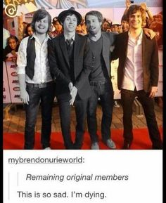 Poor Brendon <<< so Jon's hand is technically still in the band?