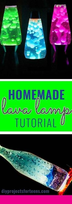 DIY Lighting Ideas for Teen and Kids Rooms - DIY Lava Lamp - Fun DIY Lights like Lamps, Pendants, Chandeliers and Hanging Fixtures for the Bedroom plus cool ideas With String Lights. Perfect for Girls (Diy Decorations For Teen Girls Room) Diy For Teens, Diy For Kids, Diy Room Decor For Teens Easy, Craft Ideas For Teen Girls, Art Ideas For Teens, Arts And Crafts For Teens, Homemade Lava Lamp, Diy Luz, Diy Lampe