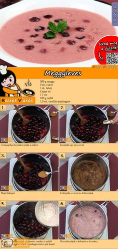 Hungarian Desserts, Hungarian Recipes, Healthy Dinner Recipes, Soup Recipes, Easy Cooking, Cooking Recipes, Food Porn, Dessert Drinks, Health Foods