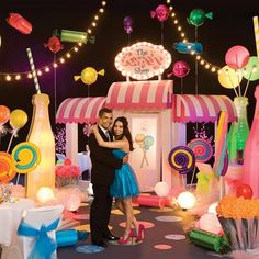 Candyscape Complete Theme-Hot, New Theme for Prom 2016 Candy Land. Great ideas for a sweet prom!