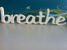 Yoga sign for meditation area Breathe. Home decor by svetulka, $34.00