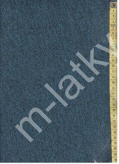 7aec26e693d7 O Výplněk bez počesu ( teplákovina ) - černotyrkysový melír 100% bavlna 190  cm šíře