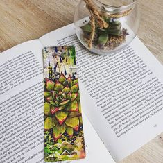 Excited to share this item from my #etsy shop: Succulent Bookmark, Garden Bookmark, Succulent Art, Bookish Gifts, Succulent Favor, Garden Bookmark  #succulentbookmark #gardenbookmark #succulent #reading #bookmarks Reading Bookmarks, Succulent Favors, Gifts For Readers, Altered Images, Bookstagram, Succulents, Art Pieces, Great Gifts, My Etsy Shop