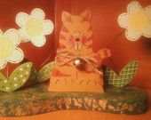 Flower Kitty Wooden Handcrafted decoration