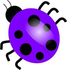 Purple Ladybugs clip art