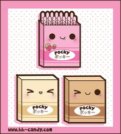 Sweet Pocky Boxes by A-Little-Kitty.deviantart.com on @deviantART