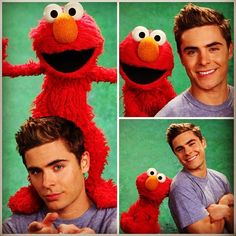 Even Elmo couldn't help himself. Because that's how charming Zac is.