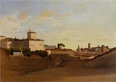 View of Pincio, Italy - Camille Corot