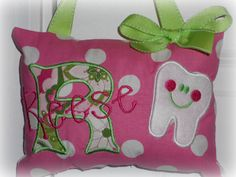 Boutique Custom Personalized Tooth Fairy Pillow  by SandDStitches, $21.00
