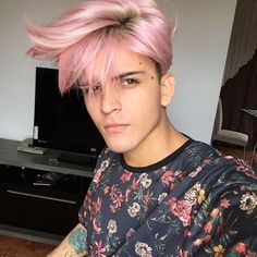 He is beautiful and I give him alot of credit to go with pink. Awesome