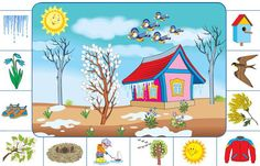 Speech Activities, Learning Activities, Activities For Kids, Crafts For Kids, Seasons Activities, Spring Activities, Weather For Kids, Weather Calendar, English For Beginners