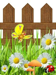 my hand made fence garden Decoupage printables Fence- – Rebel Without Applause Flower Fence, Jungle Illustration, Stick Figure Drawing, Page Borders Design, Decoupage Printables, Armband Diy, School Murals, Butterfly Wallpaper, Floral Border