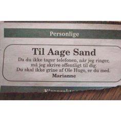 Til Aage Sand -øvelse