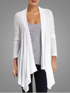 Splendid Basic Very Light Jersey Drapey Cardigan | Piperlime $63