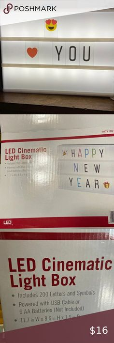 A4 Black My Cinema Lightbox Includes 100 Letters /& Numbers to Create Changeable Signs Includes Letter Storage and USB The Original LED Marquee Lightbox Battery or USB