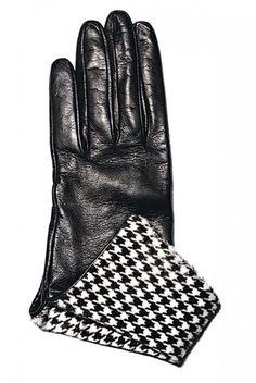 Pied de poule gloves  www.modadesnuda.wordpress.com