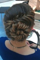 Love this updo?  tutorials on behindthechair.com!