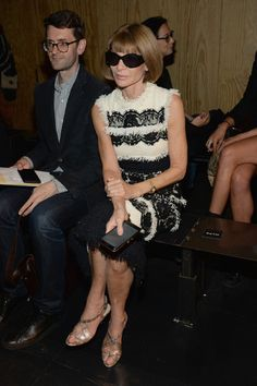 9ab9e642c339 Anna Wintour Photos - rag   bone - Front Row - Spring 2016 New York Fashion