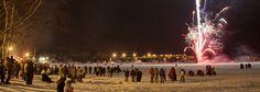 The Heikki Lunta winter celebration on Teal Lake, Negaunee, MI I Shawn Malone