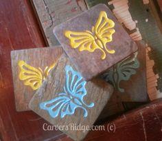 Custom Engravable Stone Coasters - set of 4